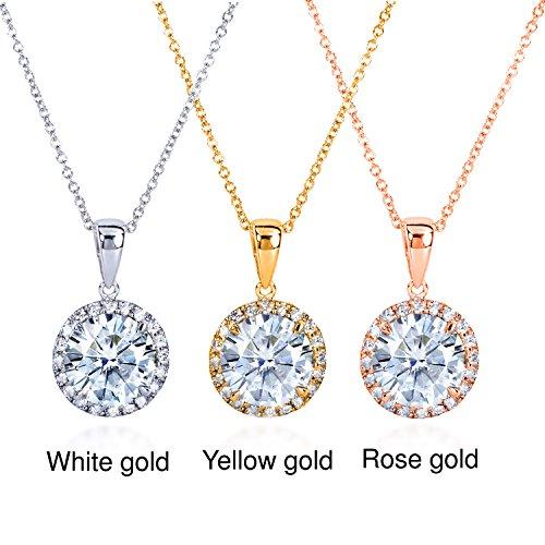 Ronde et en or 9-Collier Femme-diamant 21/6carats (ctw) en or 14K