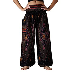e136d9d3c3793 Bangkokpants Plus Size Harem Pants Boho Clothing Hippie Peacock Size US  14-22