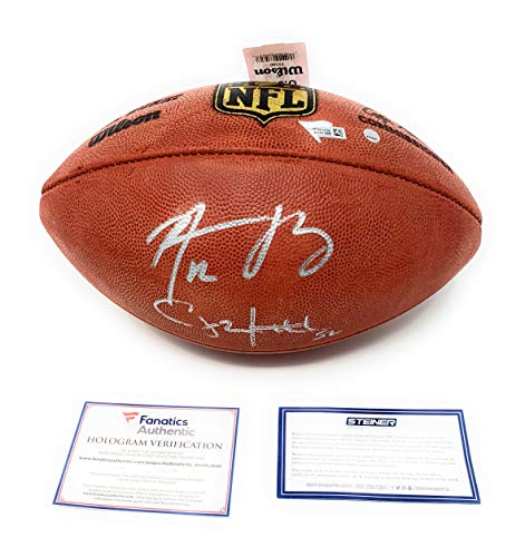 (Aaron Rodgers Clay Matthews Green Bay Packers Dual Signed Autograph NFL Authentic Duke NFL Football #1 Steiner Sports Fanatics Authentic Certified)