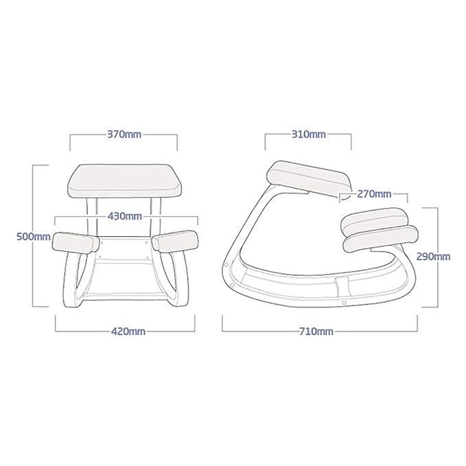 H&RB chair Silla ergonómica de Equilibrio para arrodillarse ...