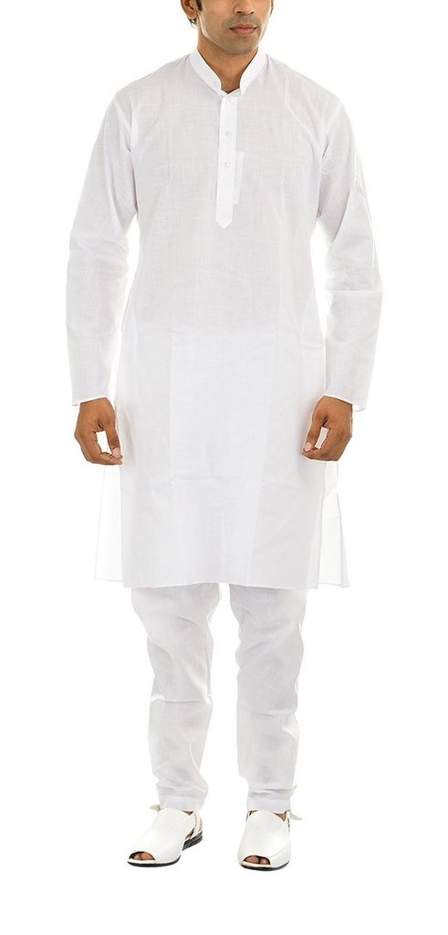 Royal Men's White Fine Cambric Comfortble White Lounge Set