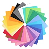 IMISNO DIY Foam Sheets Paper Pack of 24pcs (24 Colors,9.8'x9.8',Thickness:0.039' /1mm)