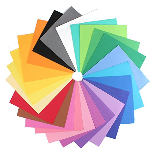 "IMISNO DIY Foam Sheets Paper Pack of 24pcs (24 Colors,9.8""x9.8"",Thickness:0.039"" /1mm)"