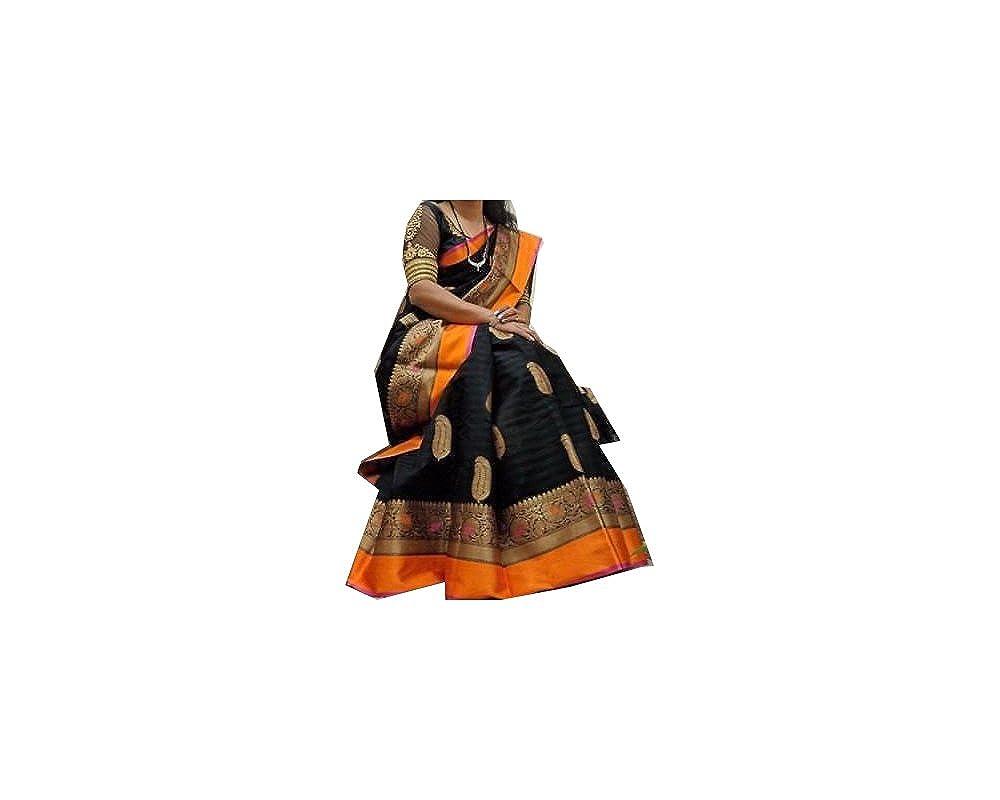 Bollywood Indian Traditional Collection Party Wear Saree Sari,Function, Karneval, Birthday Dress, Geburtstag, Indische Kleid,Hippie Kleid - Black
