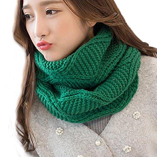 Schal 30x120cm Mädchen Warm Grün Kragen Warmer Mehrzweck Damen Neck ...