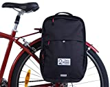 Two Wheel Gear - Pannier Backpack Convertible - 2 in 1 Commuting and Travel Bike Bag (Black)