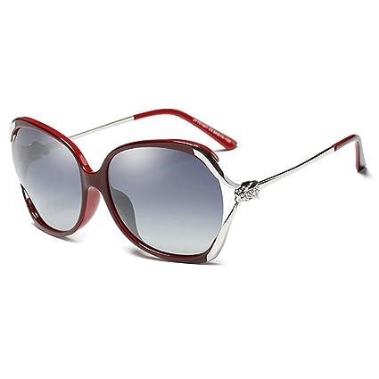 HUACANG Gafas de Sol polarizadas para Mujer, Gafas de Sol Wayfarer Protección UV400 Gafas de