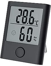 Termometro Igrometro Digitale, Igrometro Termometro Digitale Termoigrometro LCD Termometro Ambiente Interni Rilevatore con per Ambienti Misura Temperatura&umidità per Serra, Stanza,Casa