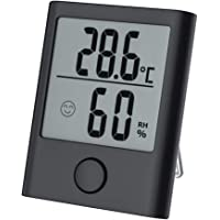 LARAYA Mini Termómetro Higrómetro Digital Termohigrómetro,Pantalla LCD,Interior Termohigrómetro