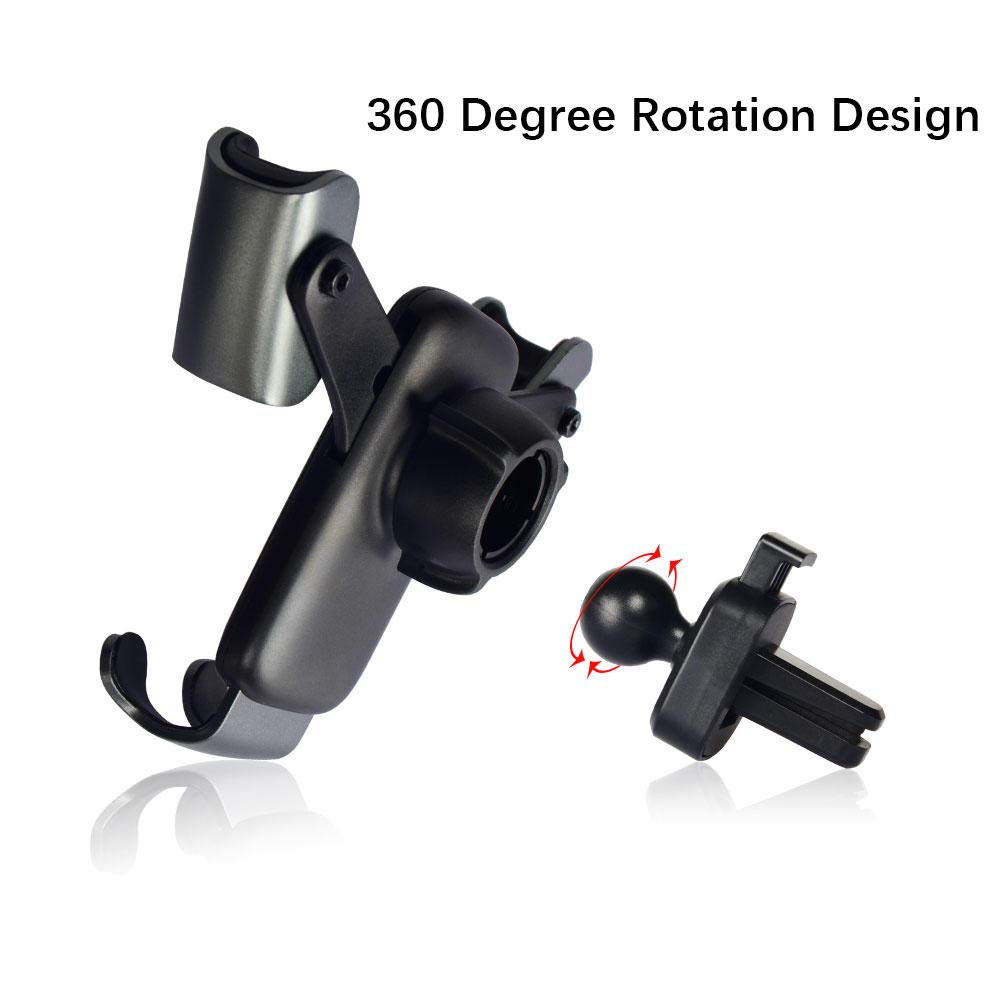 PrimeCables Universal Gravity Auto-Clamping Air Vent Mount Linkage Bracket 360 Degree Rotation