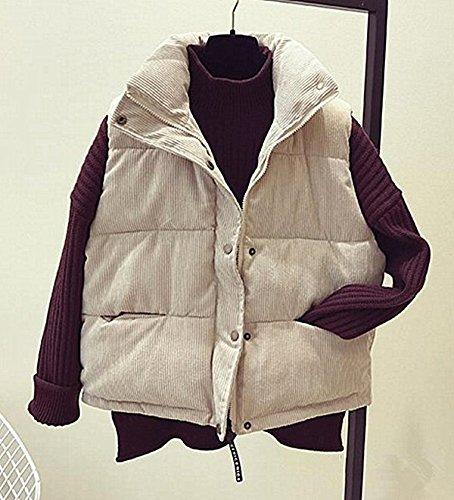 革命衝突する援助するHaozao 秋冬ベスト レディース ファッション  シンプル 防寒 カジュアル コーデュロイ