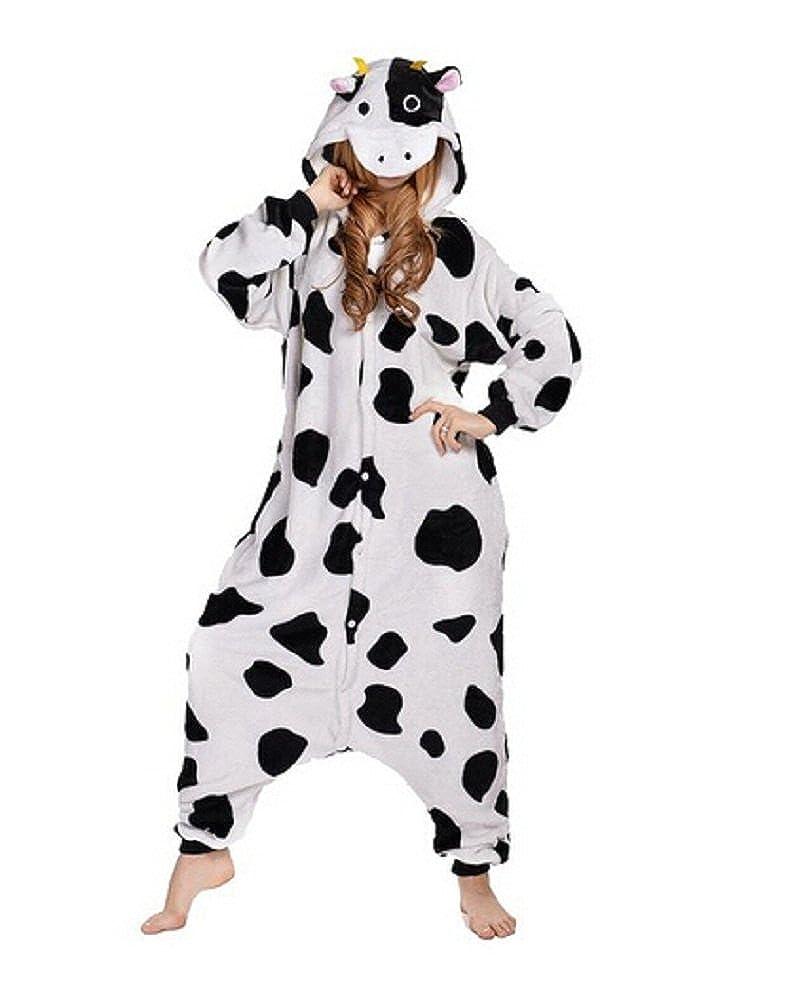 Louis Kigurumi Pajamas Halloween Costumes One Piece Onesie Cow Pajamas (large)