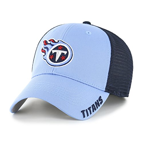 NFL Tennessee Titans Adult Hursh Ots Center Stretch Fit Hat, Large/X-Large, Periwinkle (Tennessee Titans Fitted Hat)