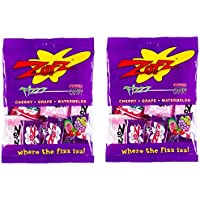 Zotz Assorted Hard Candy With Fizzy Powder Inside - Cherry, Grape, And Watermelon - 2.8 oz Retail Pack (Pack of 2)