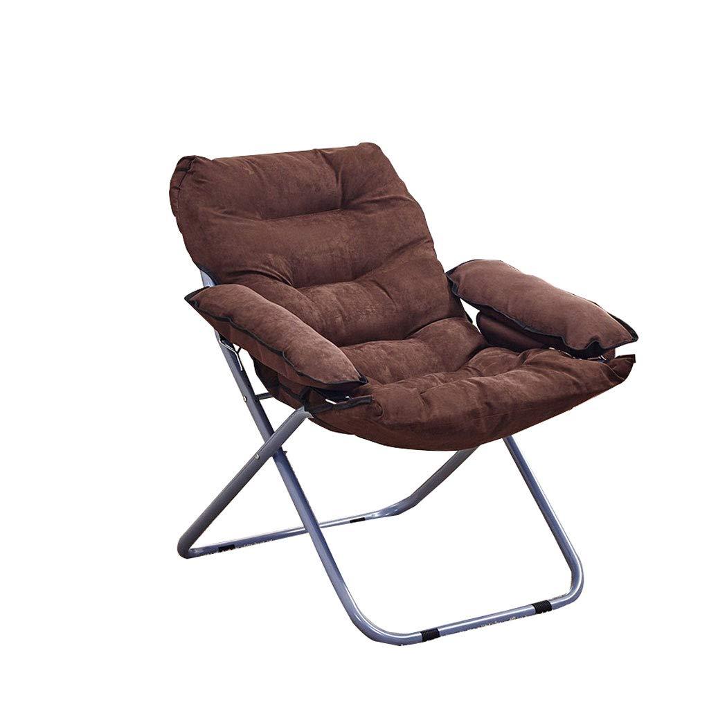 Folding chair Steel Frame Detachable Folding Stool (Color : BROWN, Size : 65 * 98cm)