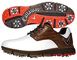 Callaway Men's La Jolla Golf Shoe, Whitebrown, 9.5 D Us