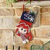 SC Sports New England Patriots Mascot Fiber Optic Stocking