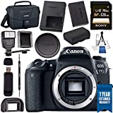 Canon EOS 77D DSLR Camera (Body Only) 1892C001 + Sony 128GB SDXC Card + LPE-17 Lithium Ion Battery + Universal Slave Flash unit + Canon 100ES EOS shoulder bag + Card Reader + Memory Card WalletBundle