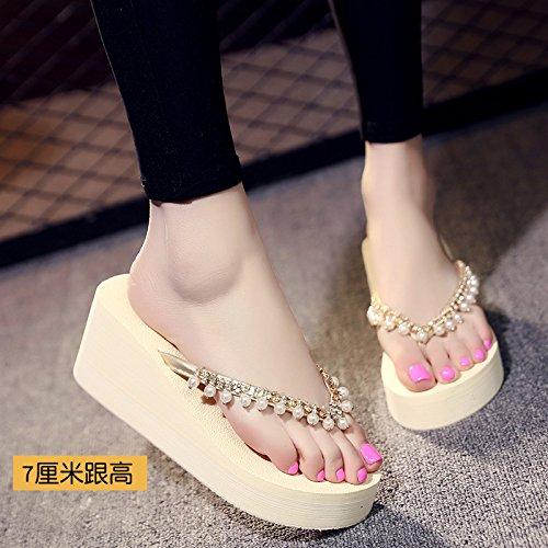 Qingchunhuangtang@ Sand Hausschuhe Tragen High Heels Und Coole Hausschuhe