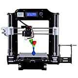ALUNAR DIY Desktop 3D Printer I3 Kit Self-Assembly Office and Home FDM 3D Printing Machine (08BK, Black, 3DPR08BK001)