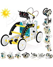 11-in-1 Educational Solar Robot Kit for Kids, FineSource STEM Science Toy Solar Power Building Kit Puzzle DIY Assembly Battery Operated Robotic Set, for Kids Teens and Science Lovers