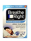 (120 Strips) Breathe Right Nasal Strips Clear Large for Sensitive Skin