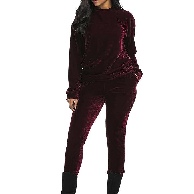 Chandal Conjunto para Mujer Moda Otoño Invierno Casual Conjuntos Deportivos  Manga Larga Sweatshirt + Pantalones 2pcs  Amazon.es  Ropa y accesorios 27f1a2d5e8db