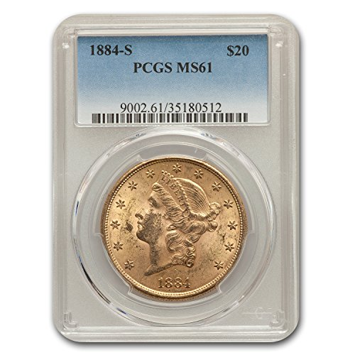1884 S $20 Liberty Gold Double Eagle MS-61 PCGS G$20 MS-61 PCGS