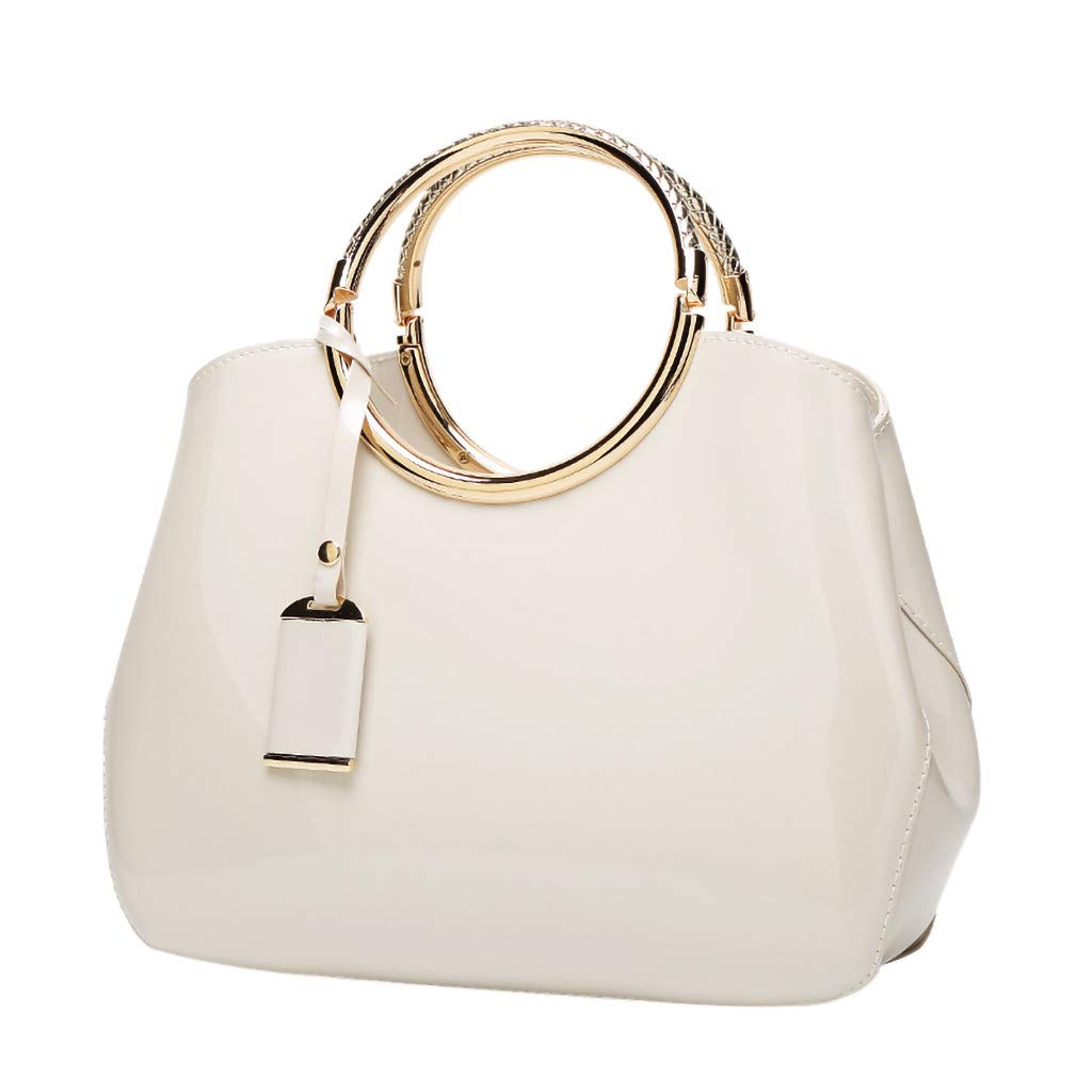 Claystyle Women's Fashion Leather Shoulder Messenger Crossbody Bags Casual Clutch Totes White by Claystyle Bags
