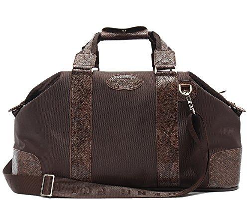 Mn&Sue Men's Oversized Cobra Pattern Waterproof Oxford Holdall Gym Sport Bag Travel Barrel Duffle Luggage by Mn&Sue