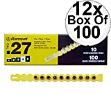 Ramset 4RS27 Box of 100#4''Yellow'' 27 cal Strip Loads 12-Pack
