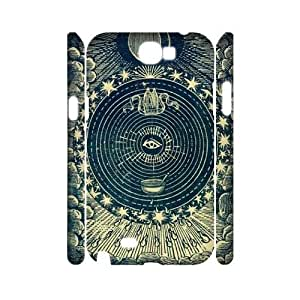 Sun Moon Pattern CUSTOM 3D Case Cover for Samsung Galaxy Note 2 N7100 LMc-70204 at LaiMc