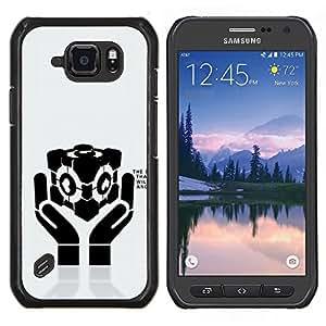 """Be-Star Único Patrón Plástico Duro Fundas Cover Cubre Hard Case Cover Para Samsung Galaxy S6 active / SM-G890 (NOT S6) ( Fresco del amor del corazón Manos Mensaje"""" )"""