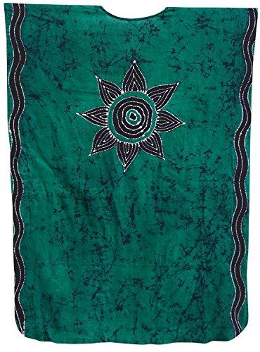 caftano verde più LEELA donne lungo LA il delle notte sala abito di sonno il insabbiare cotone usura Odqaqw