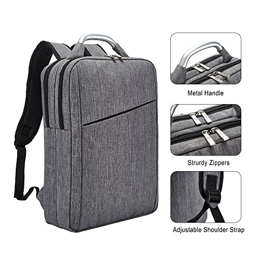 Business Laptop Backpack, Slim Durable College School Backpack for Men and Women, Lightweight Travel Computer Bag Fits under 15.6 inch Laptop and Notebook (Gray) by Covax (Image #5)