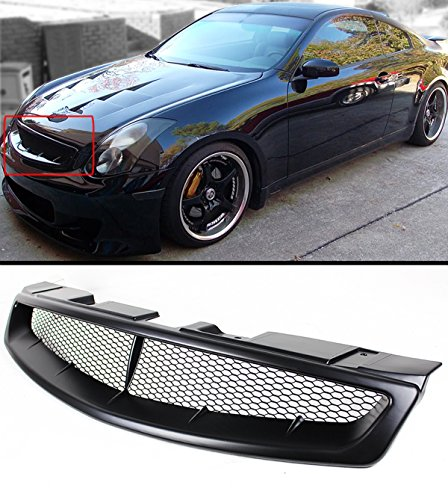 Grille Coupe - Fits for 2003-2007 Infiniti G35 2 Door Coupe V35 Primer Black JDM Front Hood Mesh Grill Grille