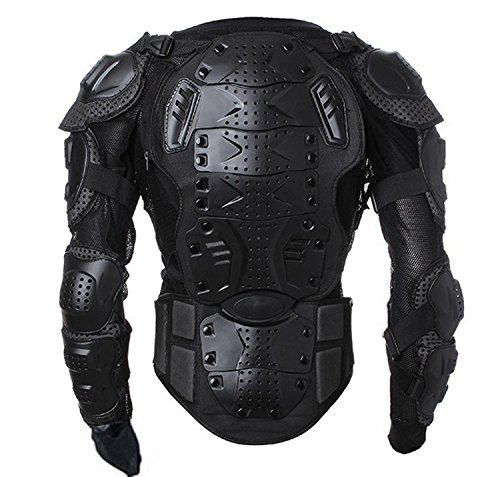 Motorcycle Full Body Armor Protector Pro Street Motocross ATV Guard Shirt Jacket with Back Protection Black 3XL by OHMOTOR (Image #1)