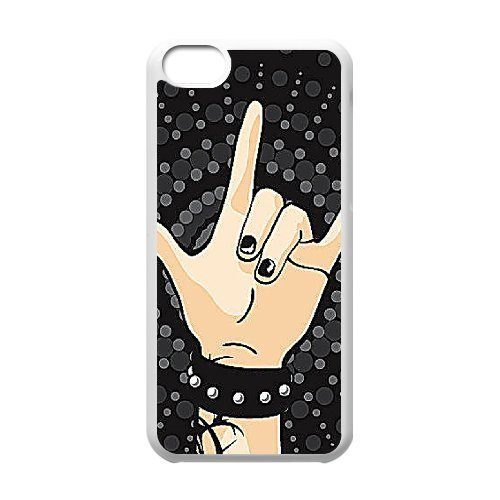 SYYCH Phone case Of Fashion Design Hand Gesture 2 Cover Case For Iphone 5C