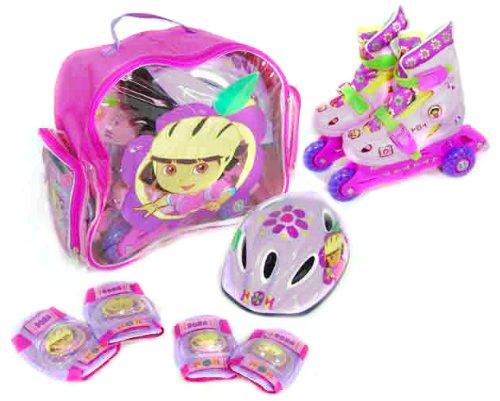 Dora la Exploradora – Set de patines transformables en línea, talla 35-38 (Saica Toys 8191)