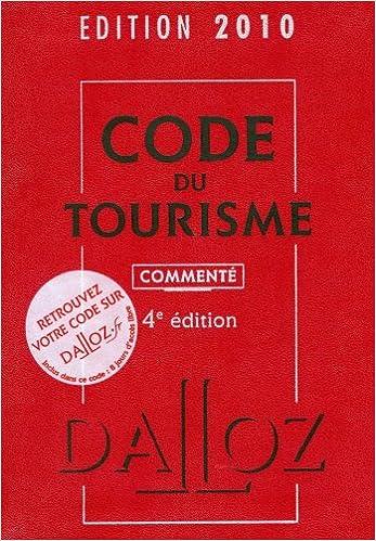Livre Code du tourisme pdf ebook