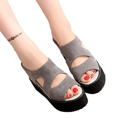 ddf388016b87b Amazon.com: Veodhekai Women High Heel Platform Sandals Fish Mouth ...