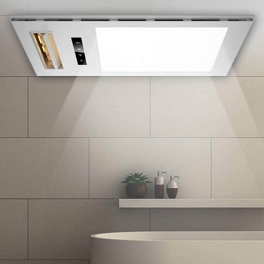 GXFC Extractor de baño con lámpara LED de 13 vatios y Calentador de 2400 vatios, Montaje en Techo Integrado con Control Remoto: Amazon.es: Hogar