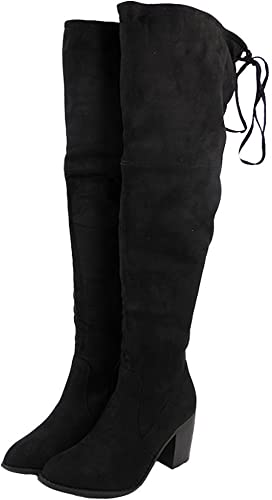 Womens Ladies Thigh High Boots Over The