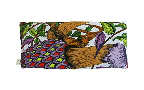 Scented Eye Pillows - Pack of (4) - Soft Cotton 4 x 8.5 - Lavender Flax Seed - Relax Soothe - yoga - tropical flowers palm leaves blue green pink fruit bird by Peacegoods (Image #3)