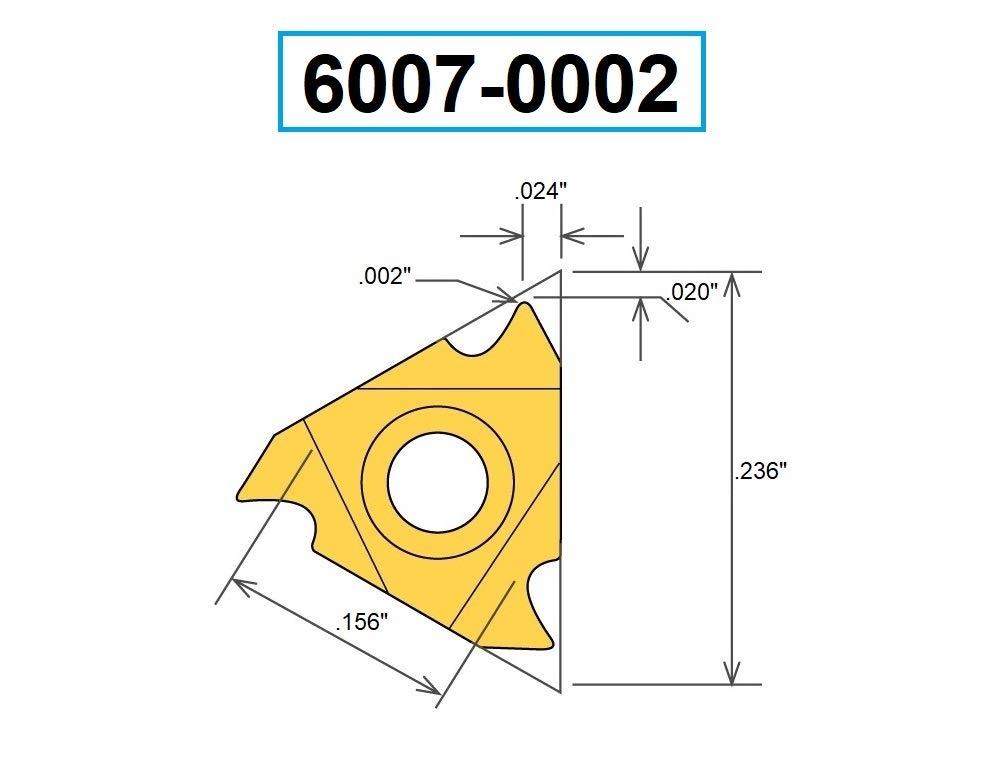 HHIP 6007-0002 06ERA60 TiN Coated External Threading Carbide Insert