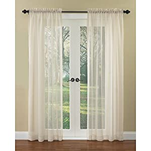 Waverly Home Classics Breeze Natural 84 In L Light Filtering Rod Pocket Window