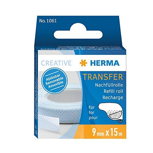 Herma 1061 Nachfüllkassette für (Kleberoller, ablösbar, 9mm x 15m)
