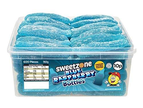 SweetZone 100% Halal Blue Rasperry Bottles Candy ohne Schweinegelatine 1kg