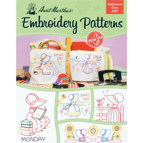 (Aunt Martha's 407 Sunbonnet Days Embroidery Transfer Pattern Book Kit )
