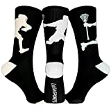 ChalkTalkSPORTS Athletic Half Cushioned Lacrosse Crew Socks | Mid Calf | LAX Player Crew Socks